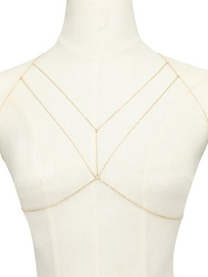 Geometric Adorn Body Chain - Golden