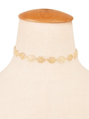 Filigree Floral Choker - Champagne