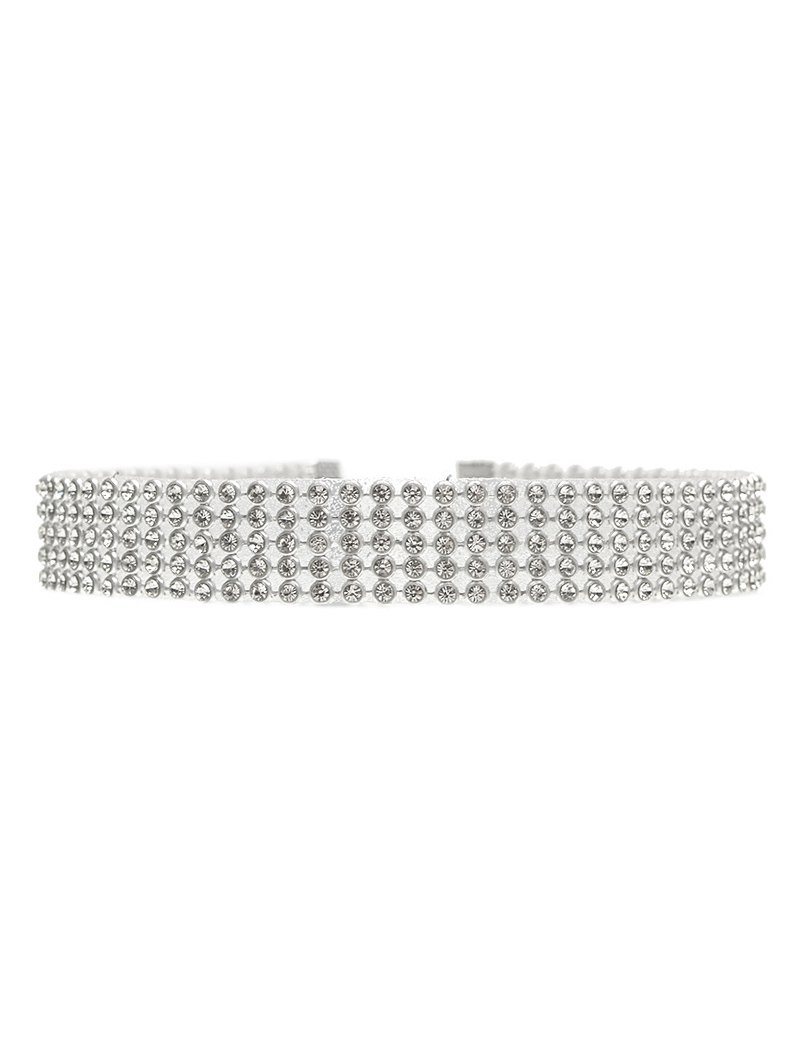 Rhinestoned Choker Necklace