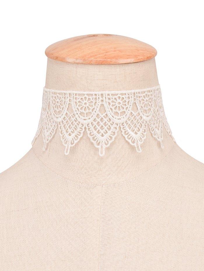 Vintage Artificial Lace Floral Choker