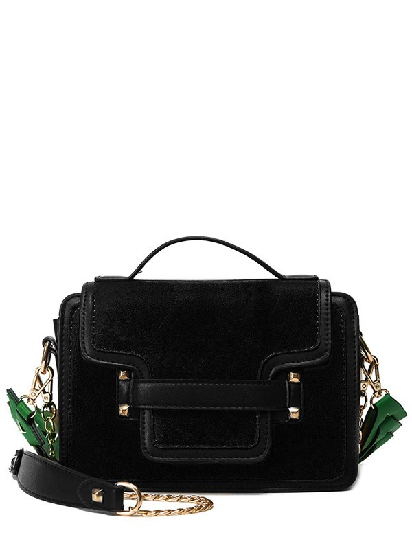 Rivet Suede Handbag