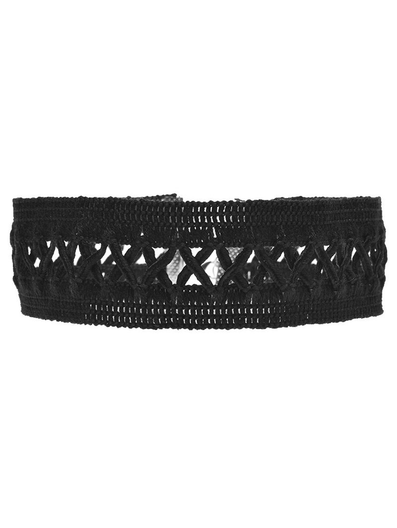 Crochet Lace Criss Cross Choker