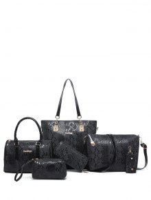Embossed PU Leather Metals Shoulder Bag