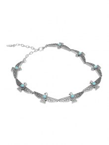 Faux Turquoise Peace Pigeon Choker