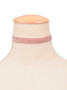 Velvet Wide Choker - Light Pink
