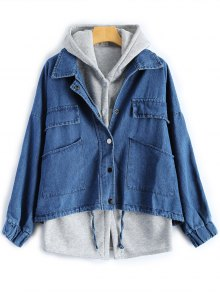 Hooded Waistcoat With Jean Jacket