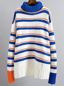 Turtle Neck Striped Sweater