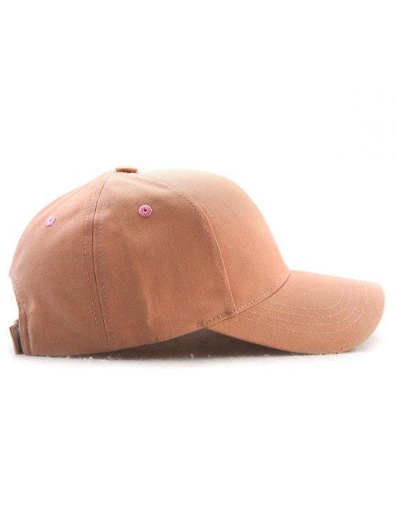Hot Sale Adjustable Outdoor Pure Color Baseball Cap - BEIGE RED  Mobile