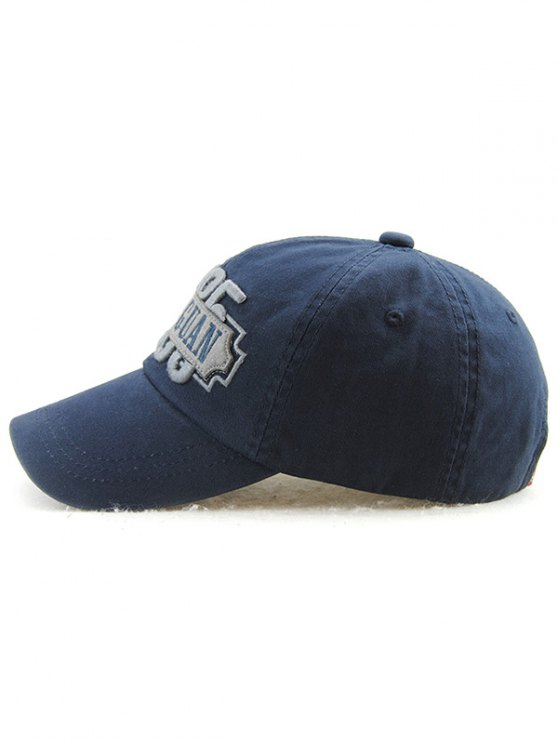 Casual Outdoor Adjustable Letters Embroidery Baseball Cap - DEEP BLUE  Mobile