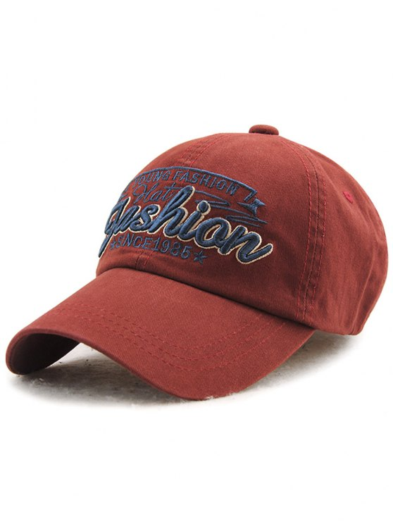 women Adjustable Outdoor Letters Embroidery Baseball Cap - CLARET