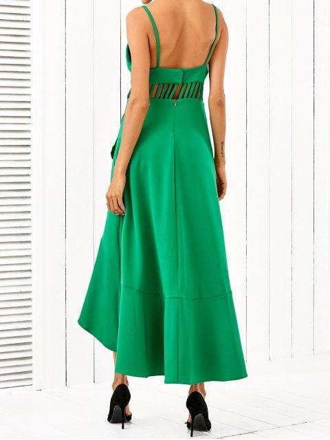 womens Low Cut Asymmetric Dress - GREEN XL Mobile