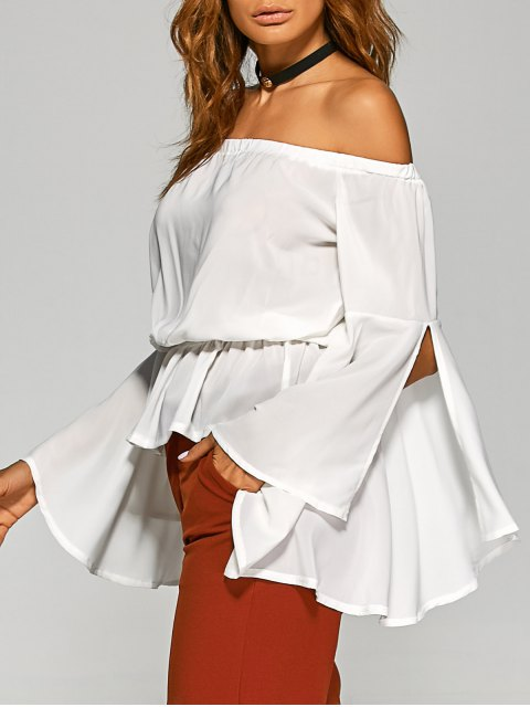 women's Bell Sleeves Off The Shoulder Top - WHITE XL Mobile