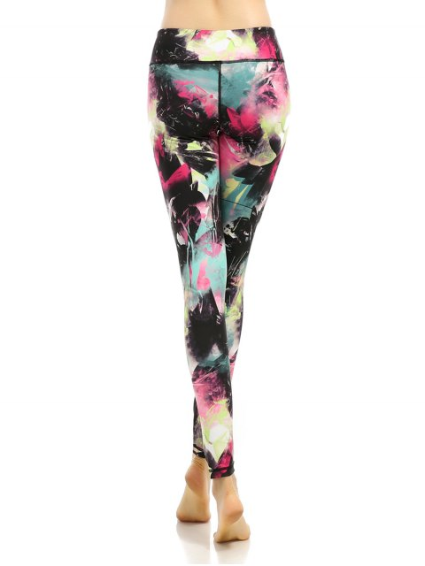 latest Stretchy Multicolor Printed Leggings - COLORMIX XL Mobile