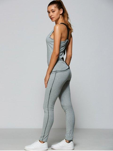 women Tank Top + Bodycon Leggings - GRAY XL Mobile
