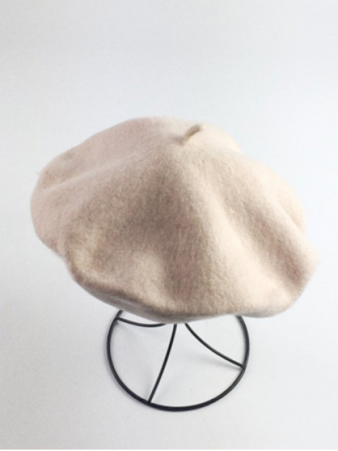 ladies Art Painter Felt Beret - BEIGE  Mobile