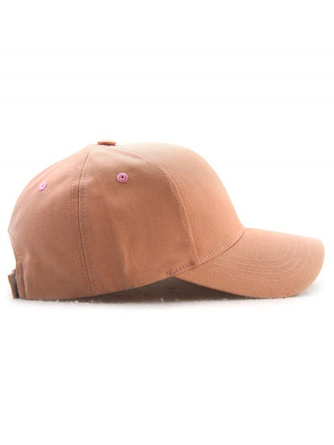 latest Hot Sale Adjustable Outdoor Pure Color Baseball Cap - BEIGE RED  Mobile