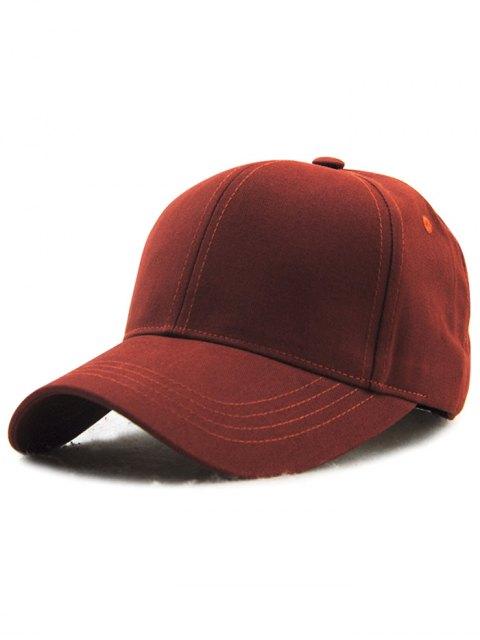 chic Hot Sale Adjustable Outdoor Pure Color Baseball Cap - CLARET  Mobile