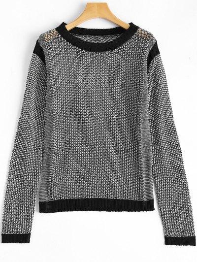 See Through Mesh Sweater