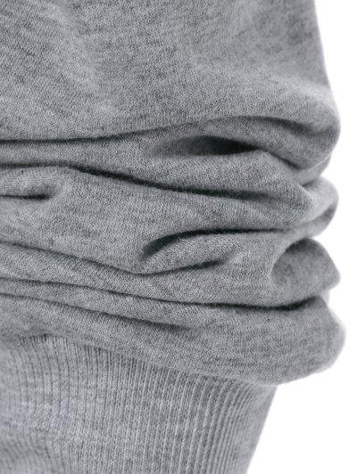 Graphic Pattern Skew Collar Sweatshirt - GRAY L Mobile