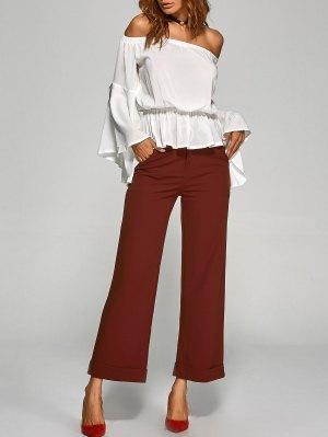 Turnup Pantalon Large - Rouge Vineux