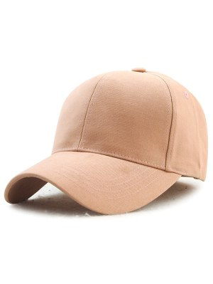 Hot Sale Adjustable Outdoor Pure Color Baseball Cap - Beige Red