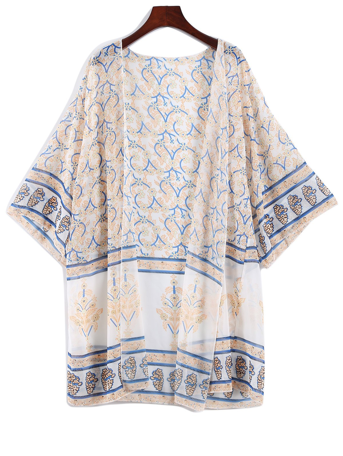 Bohemian Printed Chiffon Cover Up