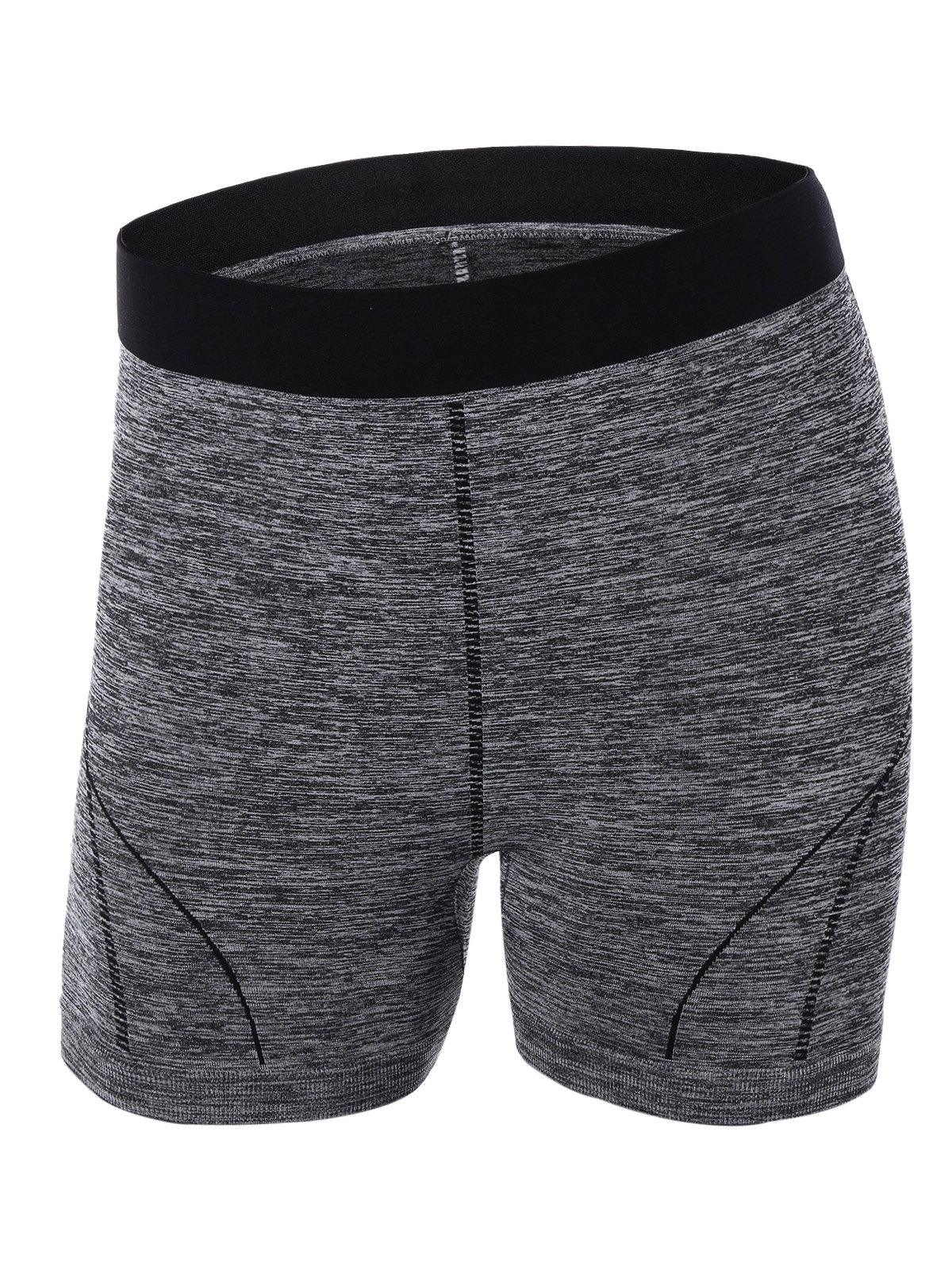 Sporty Color Block Yoga ShortsClothes<br><br><br>Size: S<br>Color: GRAY