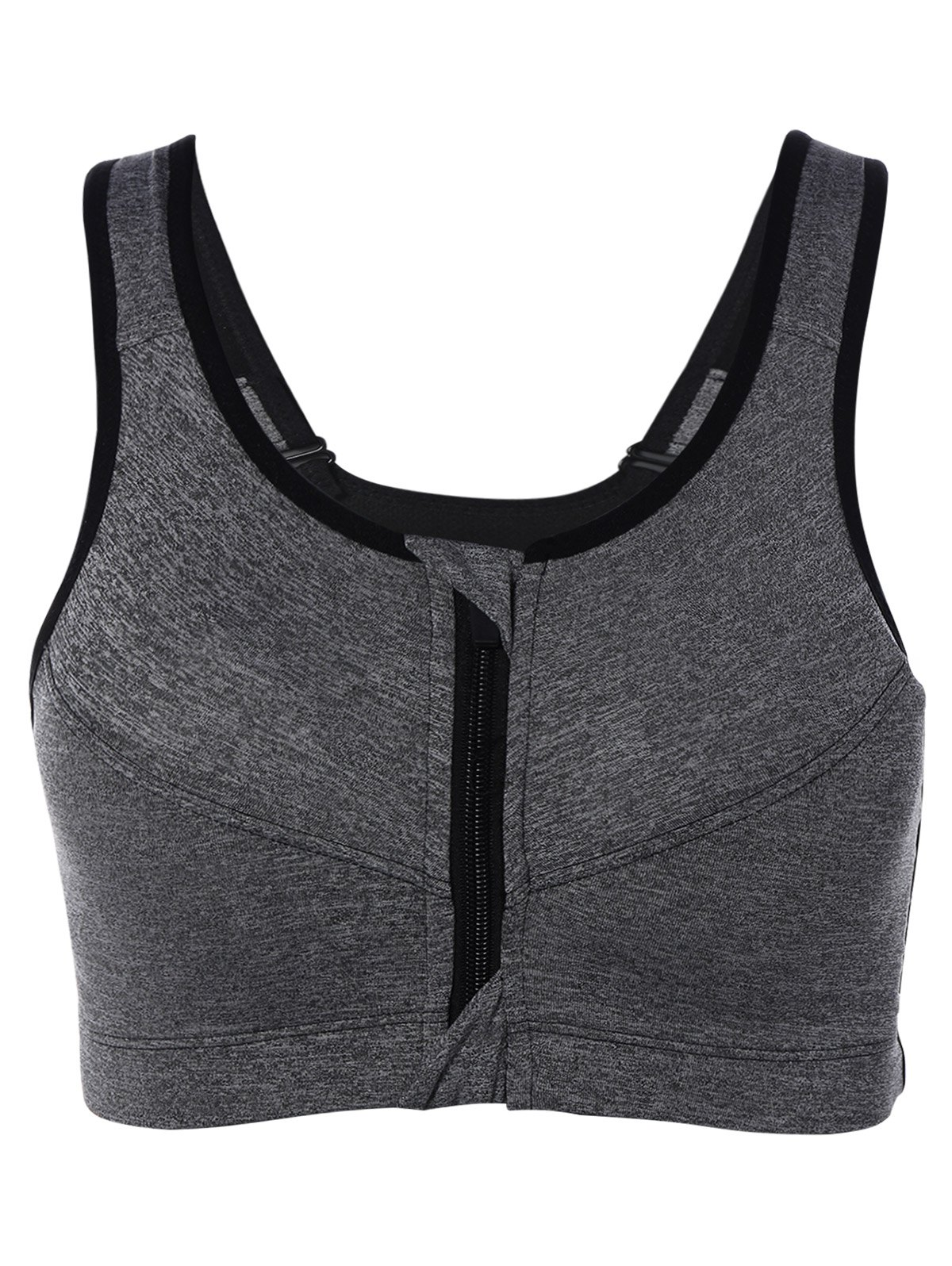 Cut Out Back Zipper Sports Bra