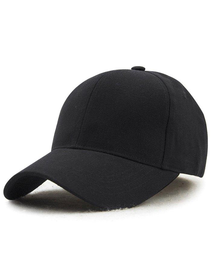 Outdoor Adjustable Pure Color Baseball Cap