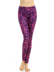 Buy Stretchy Abstract Printed Breathable Leggings - ROSE RED S