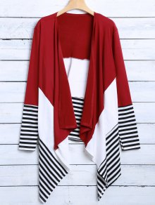 Asymmetric Cardigan - Red Xl