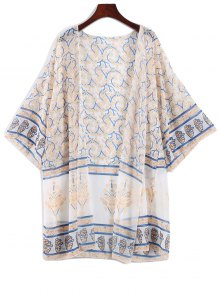 Printed Bohemian Chiffon Cover Up