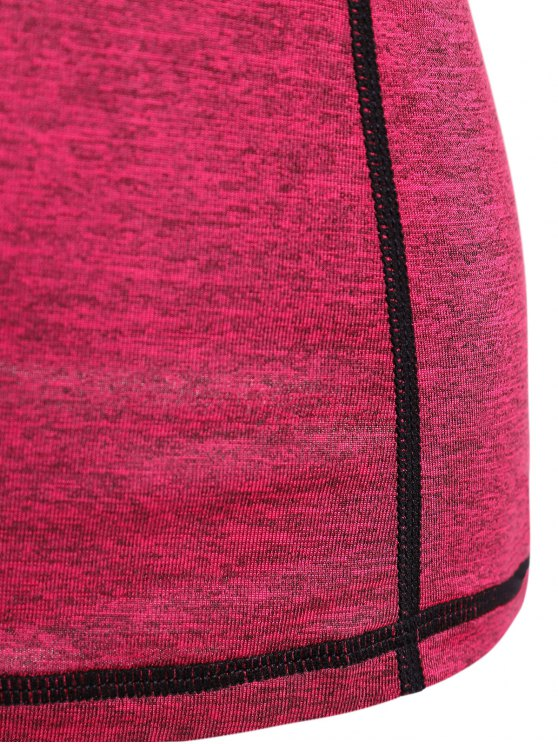 Heather Breathable Pullover Tee - ROSE RED M Mobile