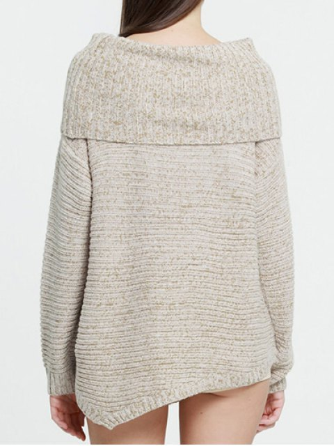 sale Foldover Chunky Sweater - COMPLEXION S Mobile