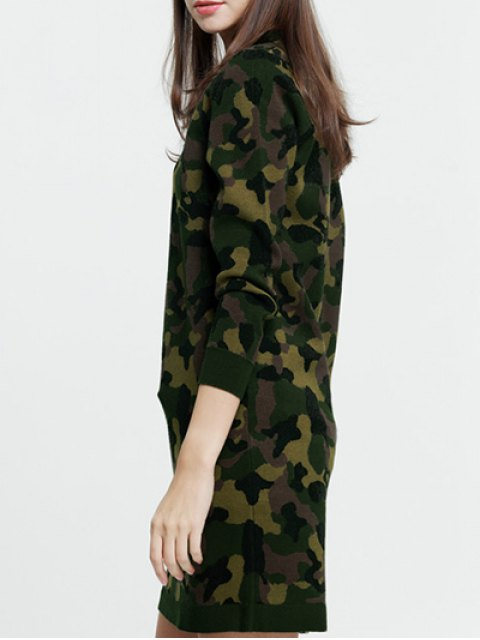 women's Camoflage Long Sweater - CAMOUFLAGE ONE SIZE Mobile