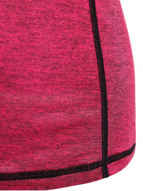 women Heather Breathable Pullover Tee - ROSE RED M Mobile