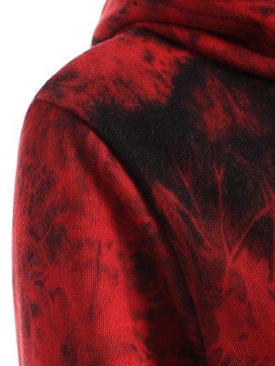 Fit Tie Dye Pocket Hoodie - DEEP RED XL Mobile