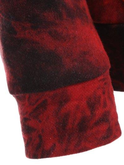 Fit Tie Dye Pocket Hoodie - DEEP RED L Mobile