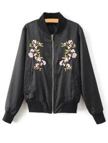 Floral Embroidered Pilot Jacket