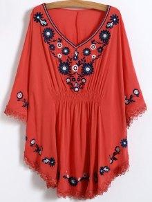 Buy Floral Embroidered Kaftan Top ONE SIZE JACINTH