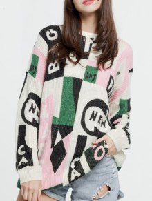 Oversized Graphic Mohair Sweater