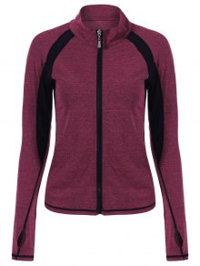 Breathable Heather Sporty Zip Up Jacket