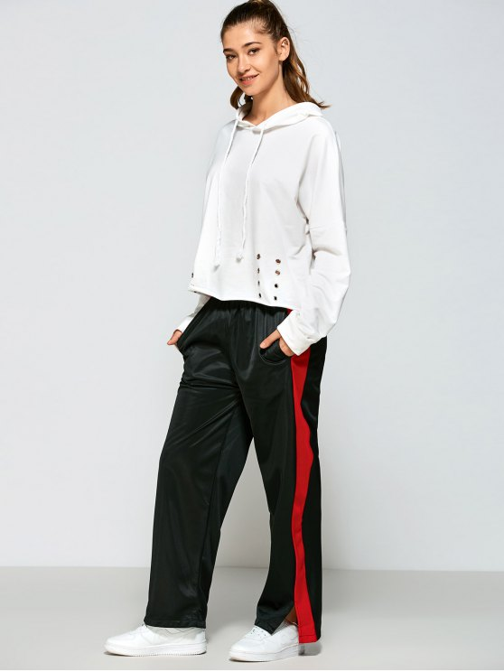 hot Color Block Furcal Track Pants - BLACK L