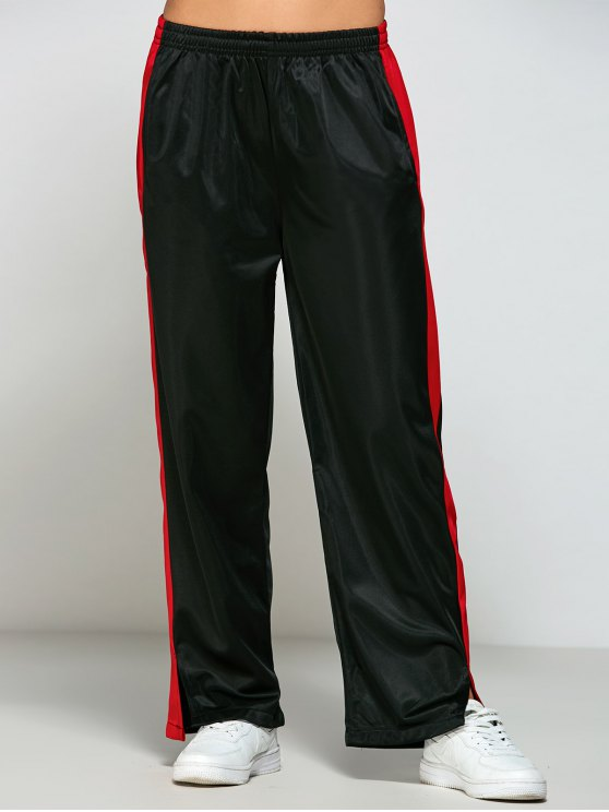 Color Block Furcal Track Pants - BLACK L Mobile