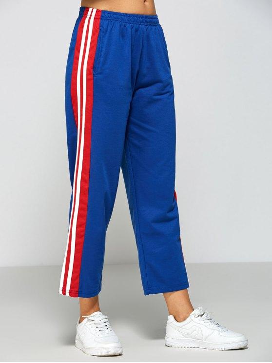 Stripes Fitting Track Pants - BLUE M Mobile