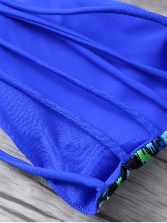 Argyle Bandeau Bikini - BLUE M Mobile
