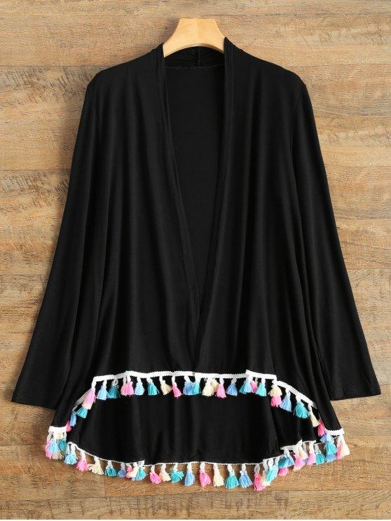 Franjas colorido Cardigan - Negro L