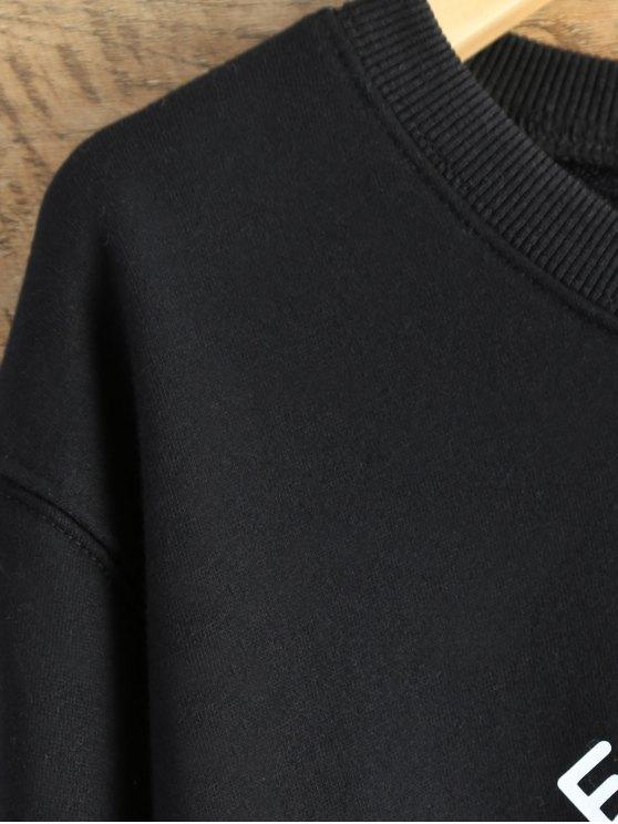 Alien Letter Sweatshirt - BLACK L Mobile