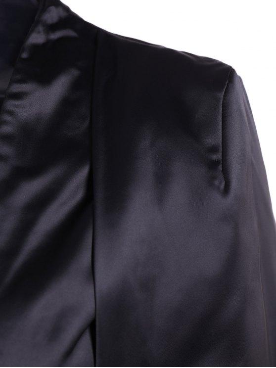 Collarless Work Cape Blazer - BLACK L Mobile