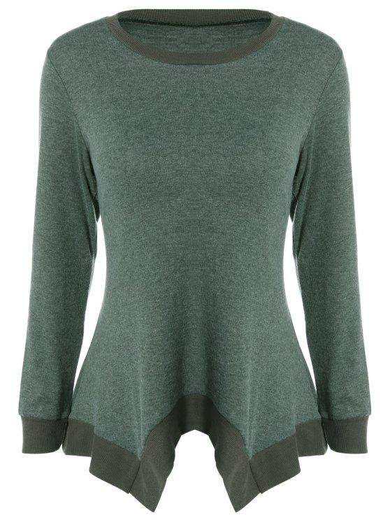 best Asymmetric Knitwear - BLACKISH GREEN S